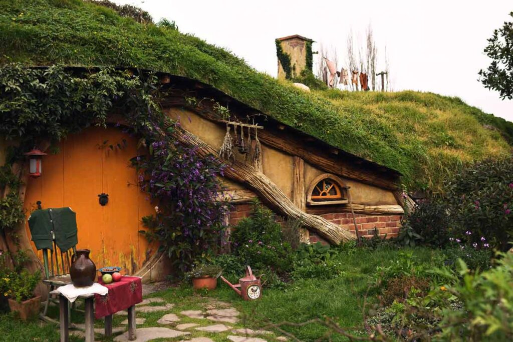 The classic 'hobbit hole' in Matamata known as the one of the locations in the famous film trilogy, Lord of the Rings