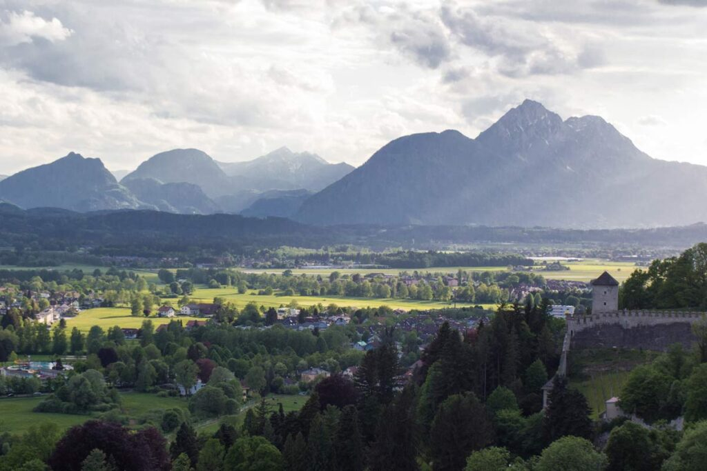 The rolling valleys of Salzburg, the same as when they were filmed in the iconic movie, The Sound of Music