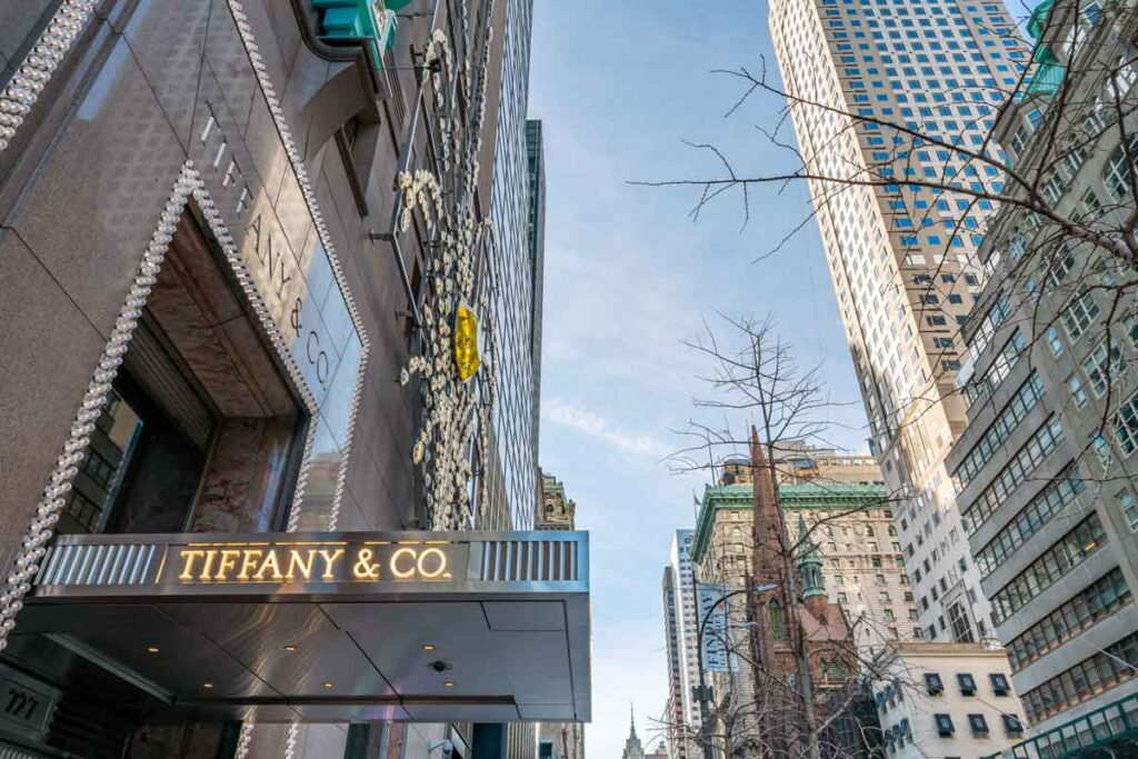 Tiffany and Co. in New York where Breakfast at Tiffany's was filmed