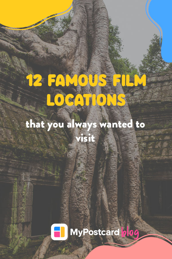A Pinterest pin for 12 famous film locations