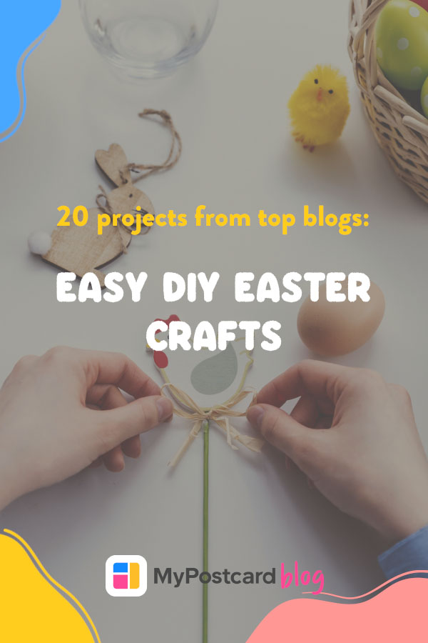 Pinterest graphic for easy DIY Easter crafts