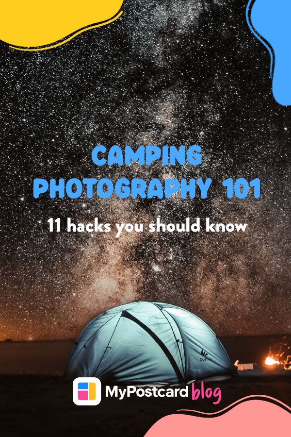 Pin for camping photograhy