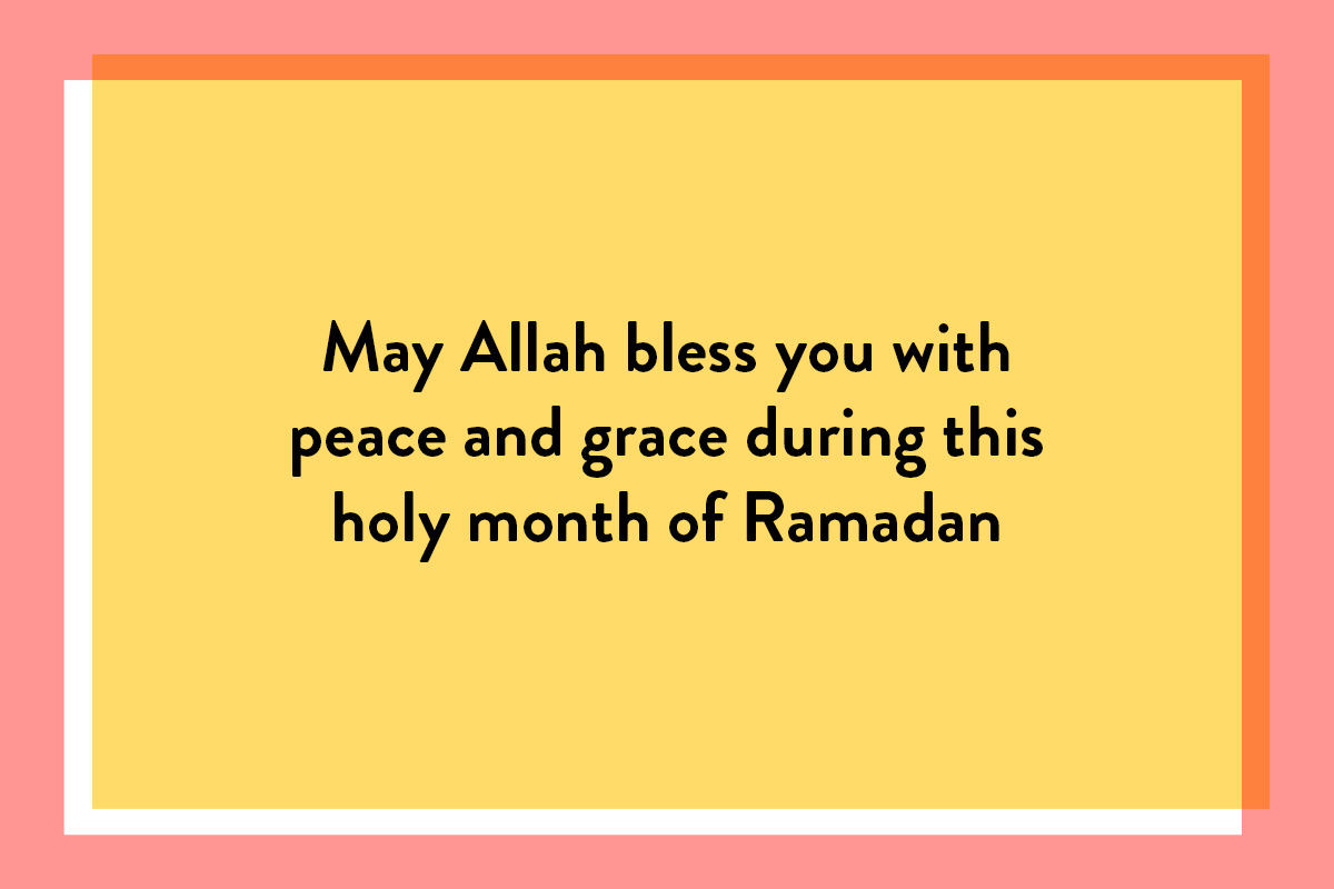 A sample greeting card text for family members this Ramadan