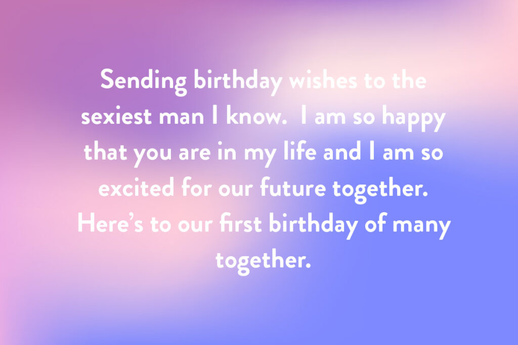 An example of what to write in a birthday card for a new relationship