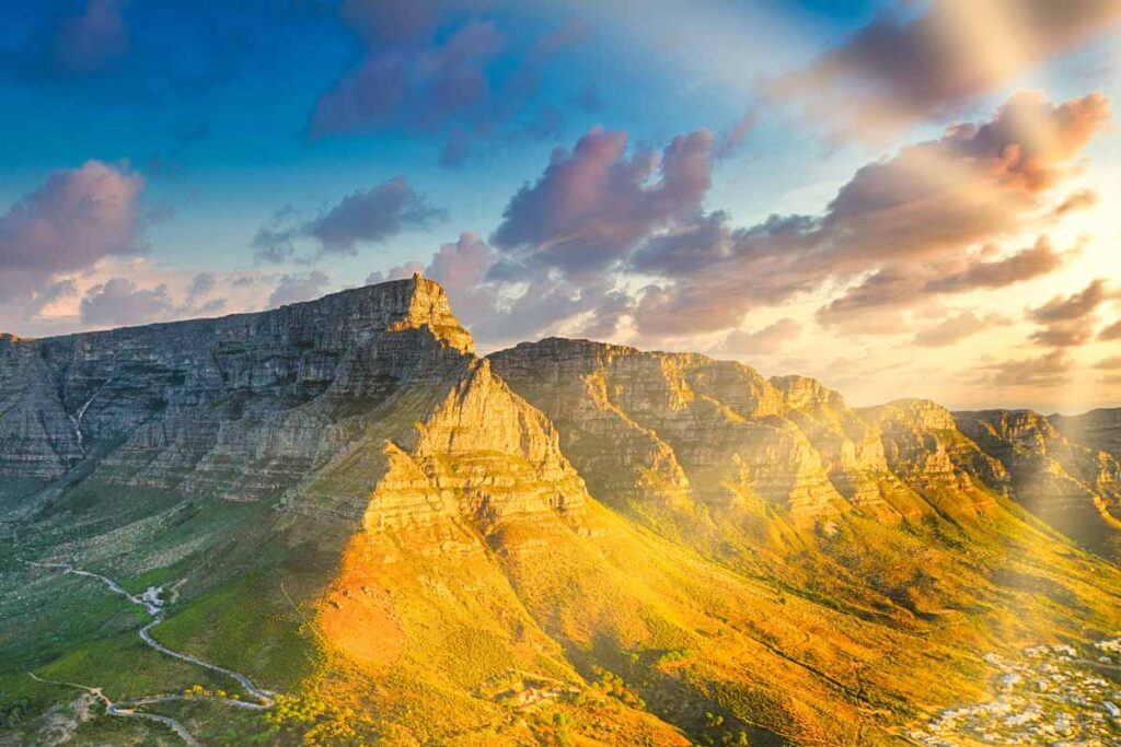 The sun blazes down on this gap year destination in South Africa over the mountains